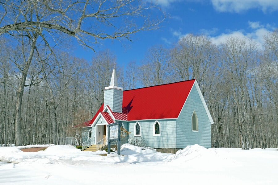 Church on St Joseph Island, Ontario, Canada