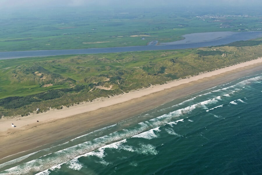 Portstewart Strand, Co. Derry | Coast of Dorne | Game of Thrones filming locations seen from a helicopter