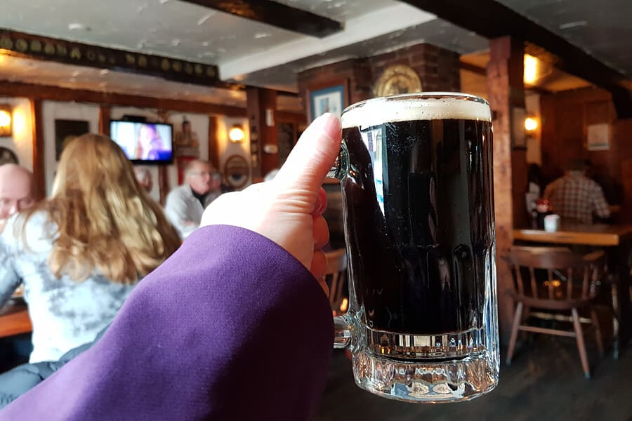 Silversmith's Black Lager at the Olde Angel Inn, Niagara on the Lake