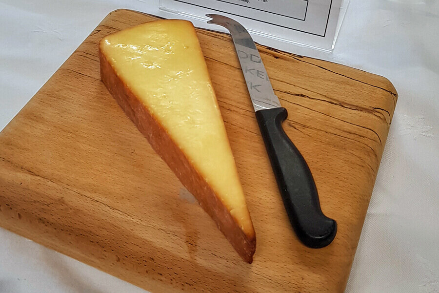 Oak Smoked Cheddar from the Cheddar Gorge Cheese Company, Cheddar Gorge, Somerset, England