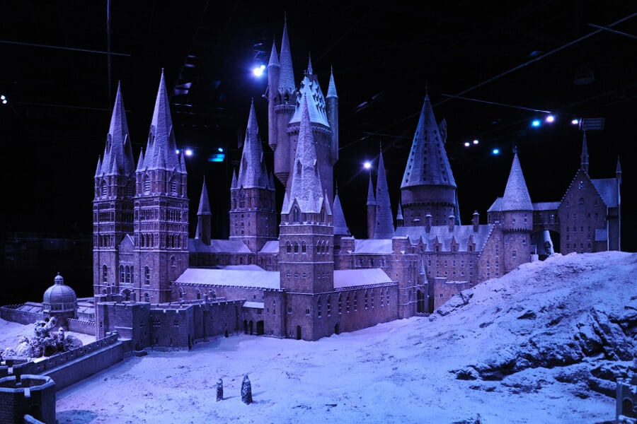 Hogwarts in the snow, one of the many wonderful things to do at Christmas in London