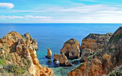 Ponta da Piedade, one of the most beautiful coastlines in the world