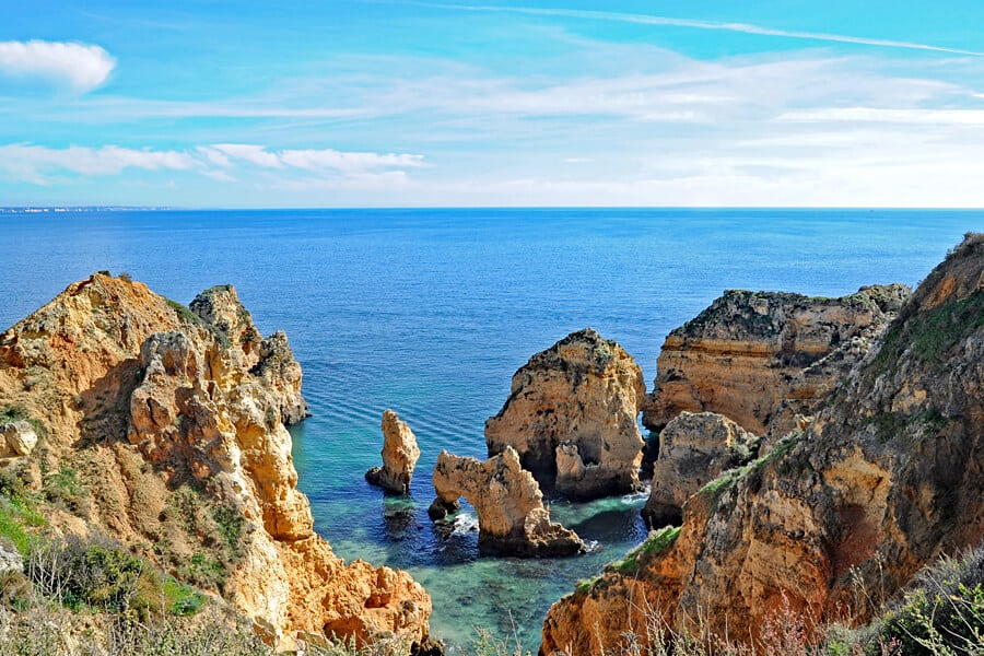 Cliffs at Farol da Ponta da Piedade, Algarve, Portugal
