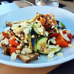 Giant coucous and grilled vegetable salad at Koko