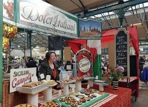 Sicilian sweet treats at St George's Market, Belfast