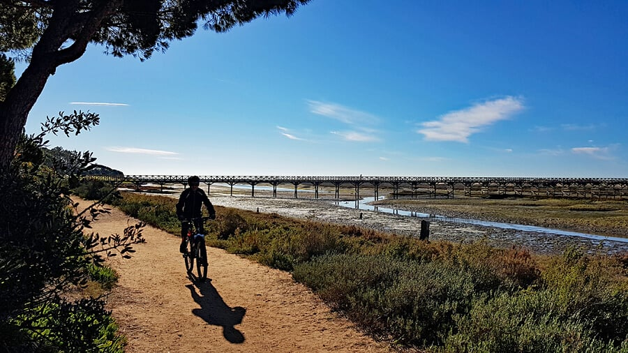 Things to do in the Algarve - cycling in the Ria Formosa Natural Park, Quinta do Lago - Algarve holiday, Portugal