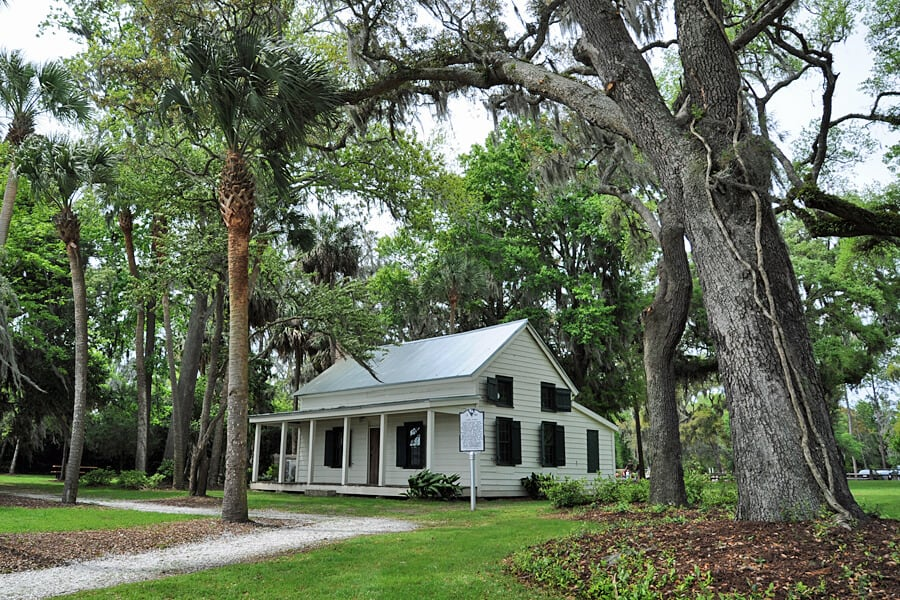 This former freedman's cottage, is now a mini museum, The Garvin Garevy House