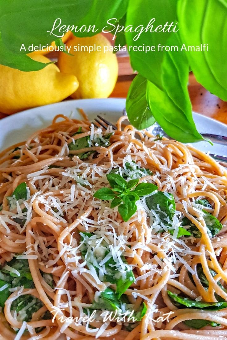 Amalfi Lemon Spaghetti recipe by Lotte Duncan #Lemons #Pasta #Spaghetti #Recipe #LemonSpaghetti