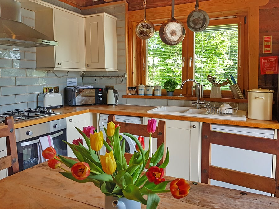 Log House Holidays kitchen