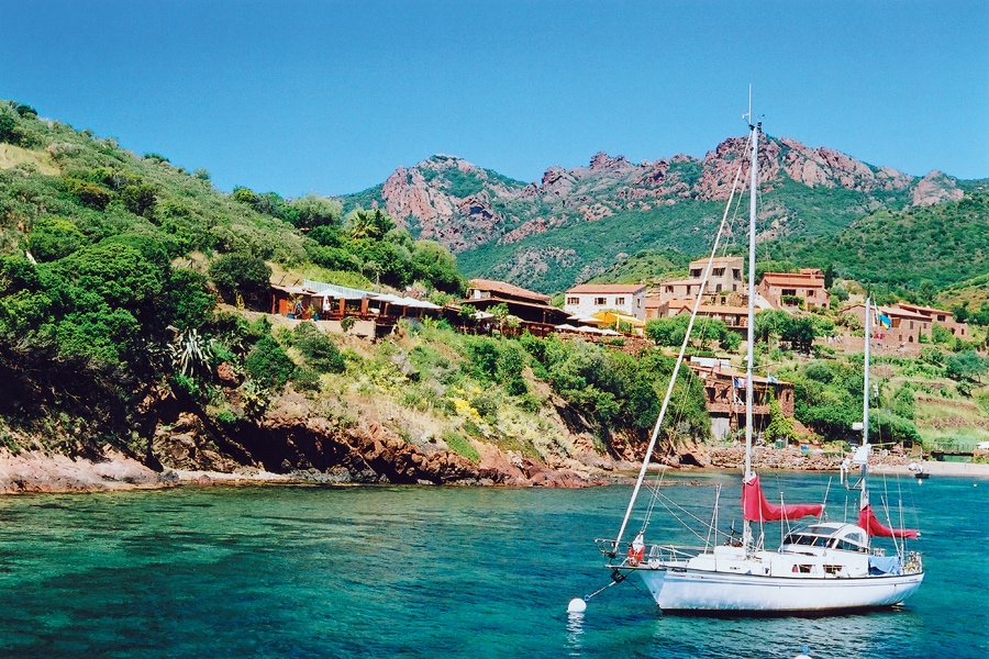 The village of Girolata, Corsica