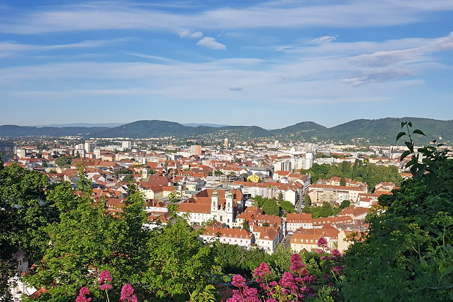 The view form the Schlossberg,, Graz