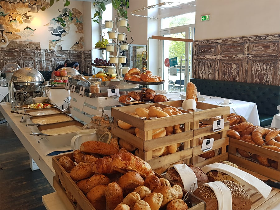 Breakfast at the Grand Hôtel Wiesler, Graz, Austria