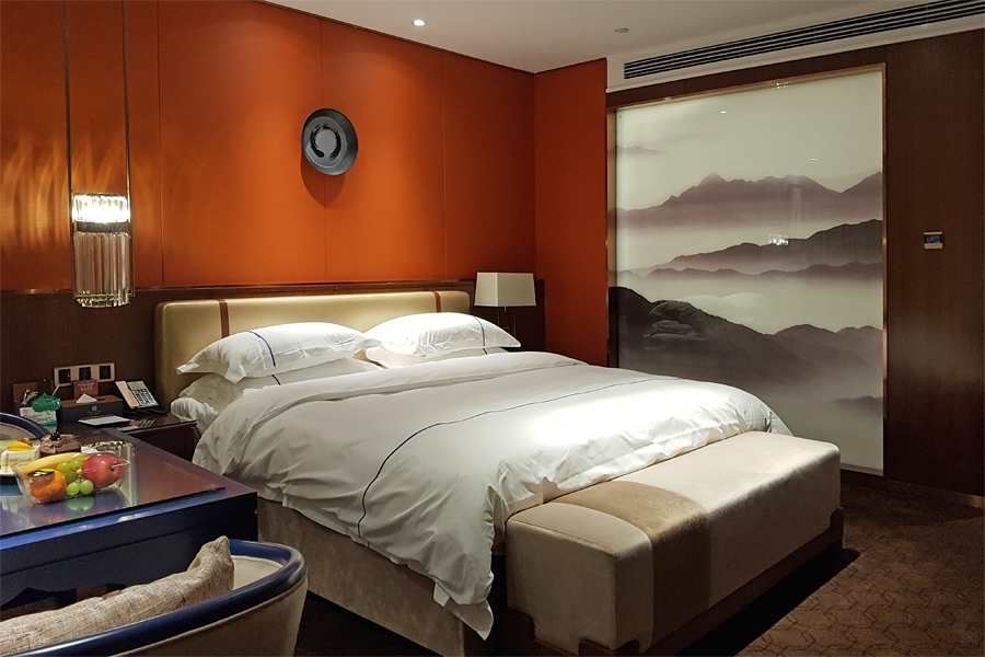 My spacious and elegant room at the Hollyear Hotel , Yizhang, Hunan, China