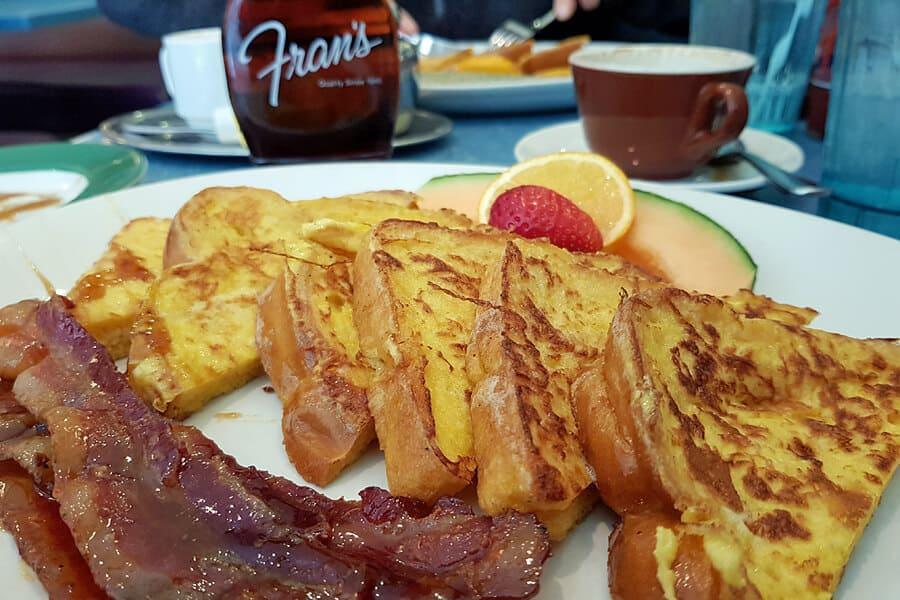 French Toast with maple bacon, at Frans, Toronto