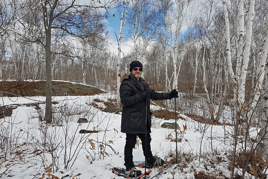 Snowshoeing with my husband in April, Ontario | Things to do in Canada in spring