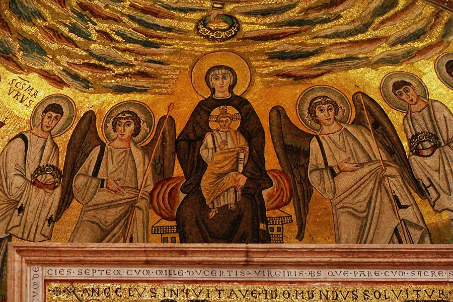 Gold mosaic from Euphrasian Basilica, Croatia tourist guide