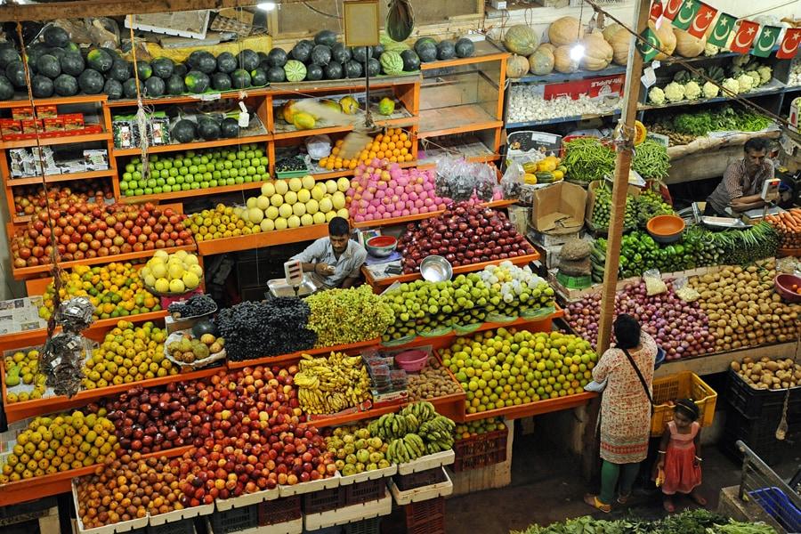 Food market in Goa, India