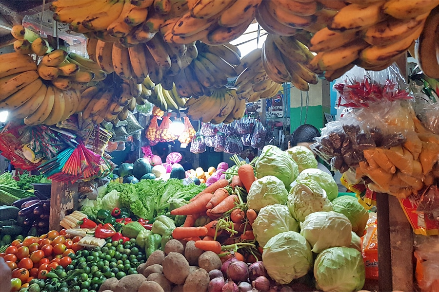 Food market in the Philippines