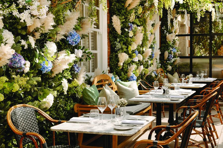 Possibly the prettiest restaurant terrce in London