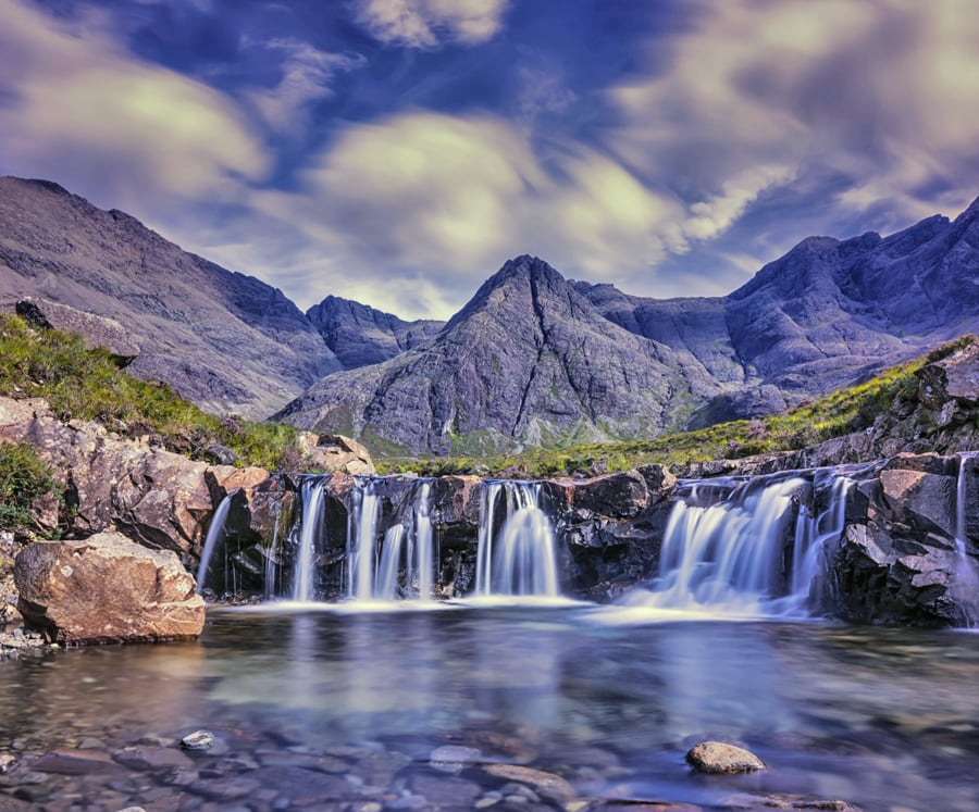 Fairy Pools on the Isle of Skye in Scotland, one of the most beautiful places in the UK