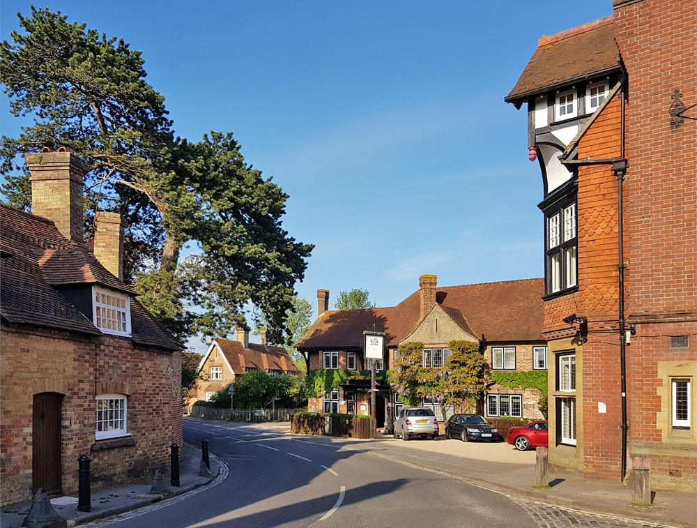 A beautiful villagein the New FOrest in the south of England