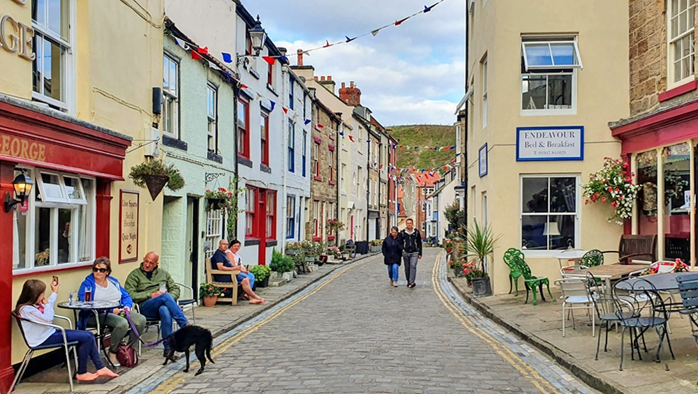 Cobbled street in Stiathes, one of England's loveiest villages