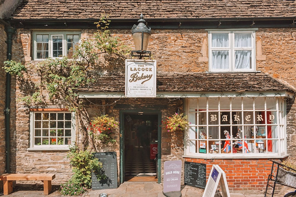 Village bakery in Lacock, a beautiful English village in Wiltshire