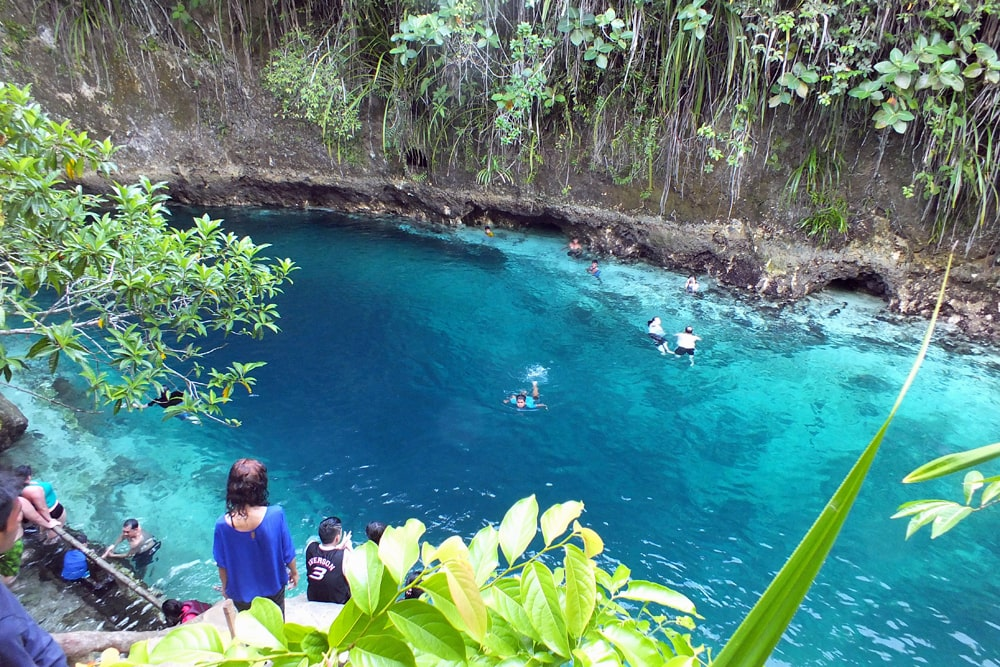Crystal clear, bright blue water of the Enchanted River, PhilippinesQuirky places to swim around the world