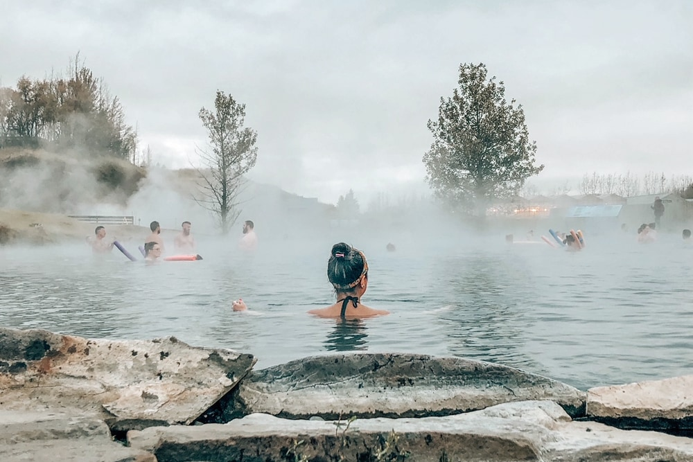 Secret Lagoon, Iceland - one of the quirkest places to swim in the world and a stunning thermal spa