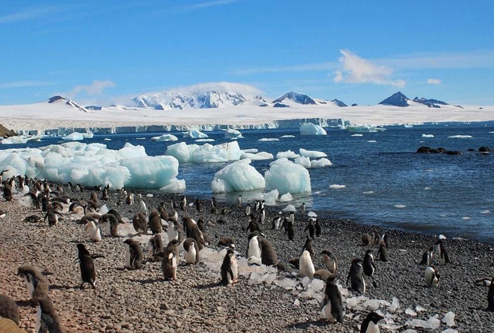 Swimming beach on Deception Island. Antarctica